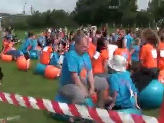 World record space hopper race
