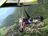 Vol delta biplace au dessus du lac d'Annecy -Deltaevasion