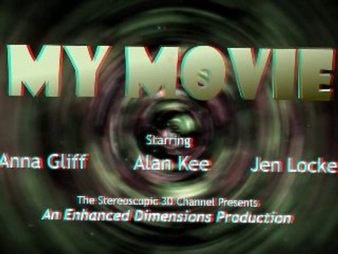 3D Video - 3D Movie Trailer Stock Footage Anaglyph