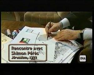 Plantu rencontre Arafat et Shimon Pérès