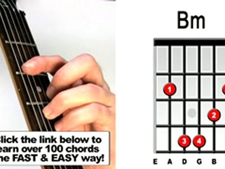 bm guitar chord easy