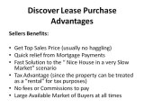 Discover Lease Purchase, Rent to Own, Lease Option