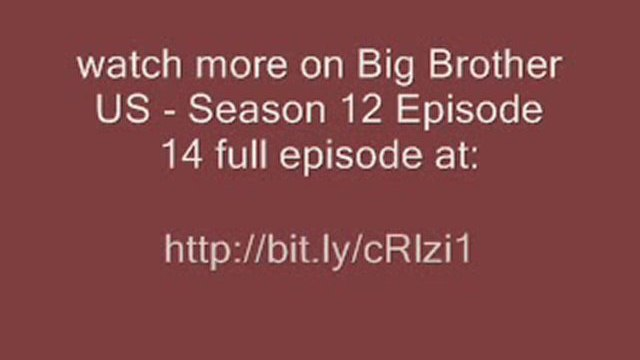 Big Brother US - Season 12 Episode 14