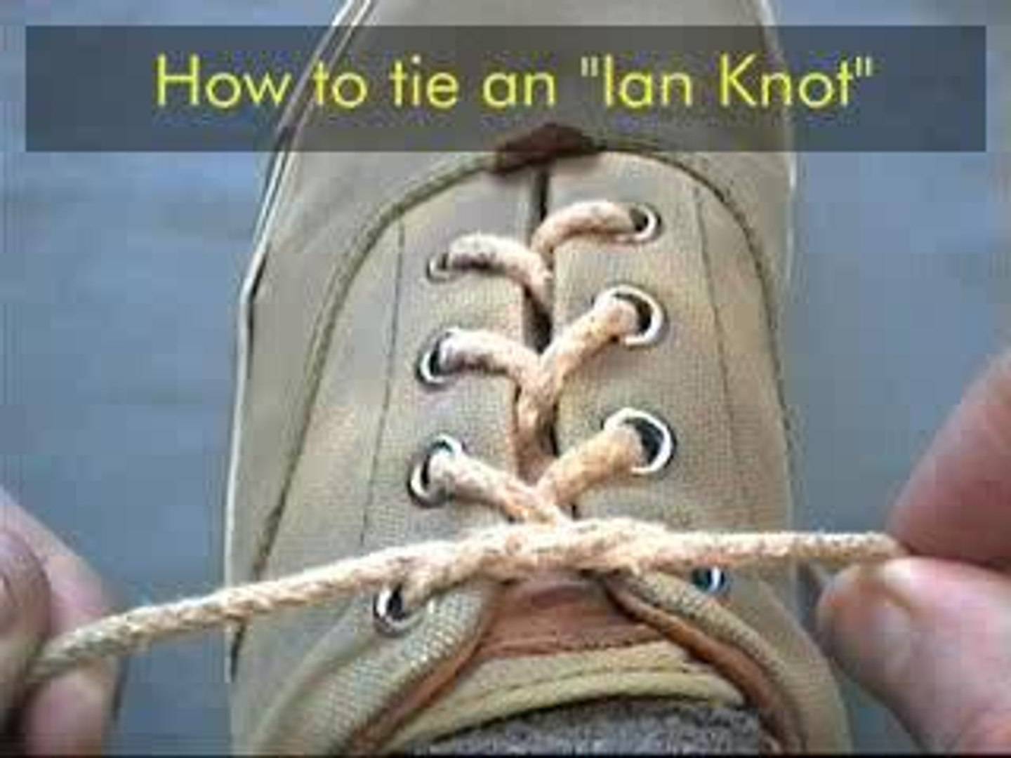 How To Tie Your Shoes...