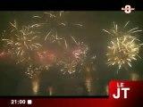 Images du grand feu pyromélodique de Genève
