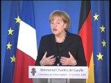 Discours Merkel inauguration Mémorial Charles de Gaulle