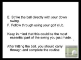Beginner Golfer - ABC's of the Golf Swing