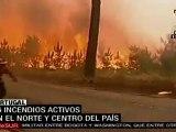 Portugal: existen 16 incendios forestales