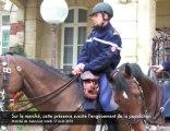 Saint-Just : des gendarmes à cheval sur le marché