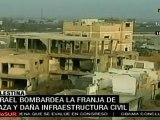 Israel bombardea franja de Gaza y daña infraestructura civi