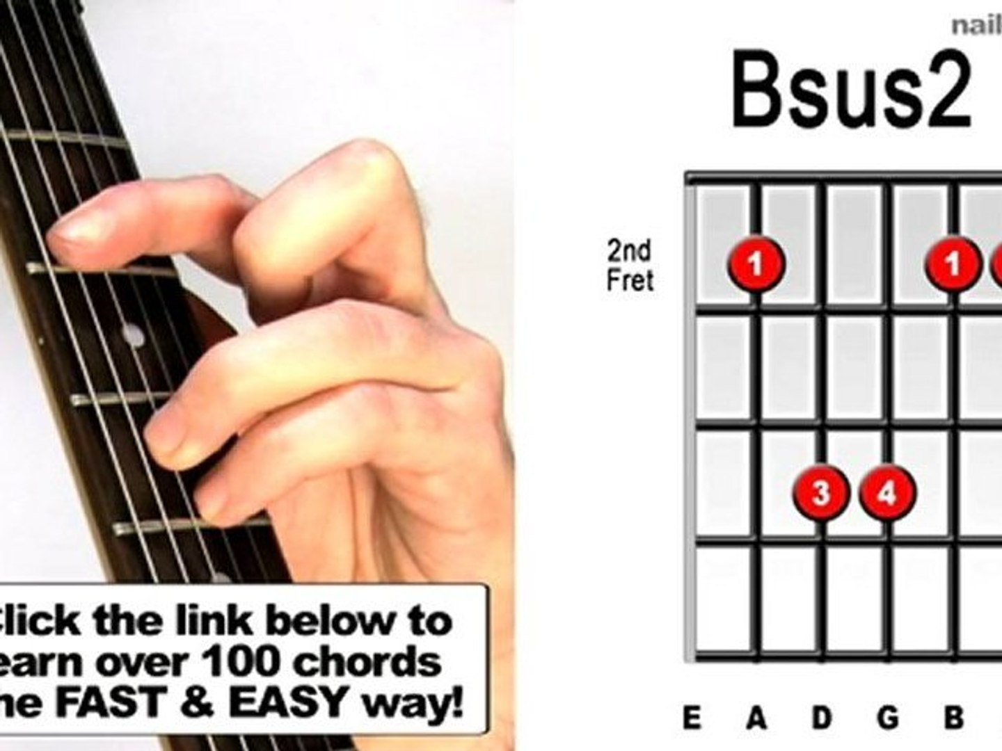 How to play Bsus15   Suspended Guitar Chords Lesson