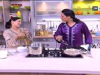 Choumicha sanaâ akroud - soupe blanche et tajine aux poulet