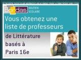 Cours particulier Littérature - Paris 16e