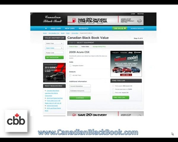 Black Book Car Values >> Used Car Future Value Calculator By Canadian Black Book