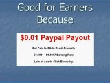 paid to click for earners & advertisers - earnings payment