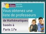 Cours particulier Mathématiques - Paris 17e