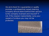 Choosing A Carpet Cleaning Company