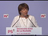 Discours Martine Aubry