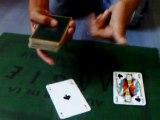 Magie de carte les 4 as et le policier
