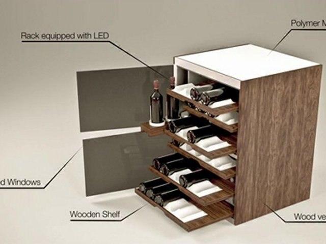 WIC Armoire à vin intelligente conçue par Romain Bourée