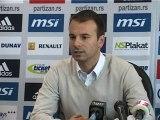 A. Stanojević pred susret sa Hajdukom