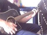 lesson tapping percussion a la guitare