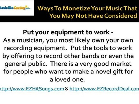 Ways To Monetize Your Music That You May Not Have Considered
