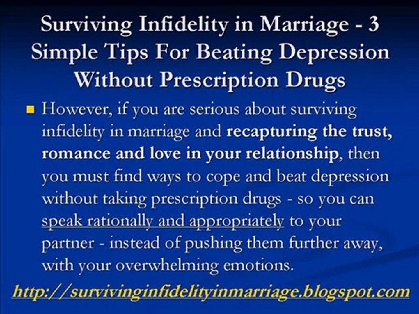 Surviving Infidelity in Marriage (3 Simple Tips) Beat