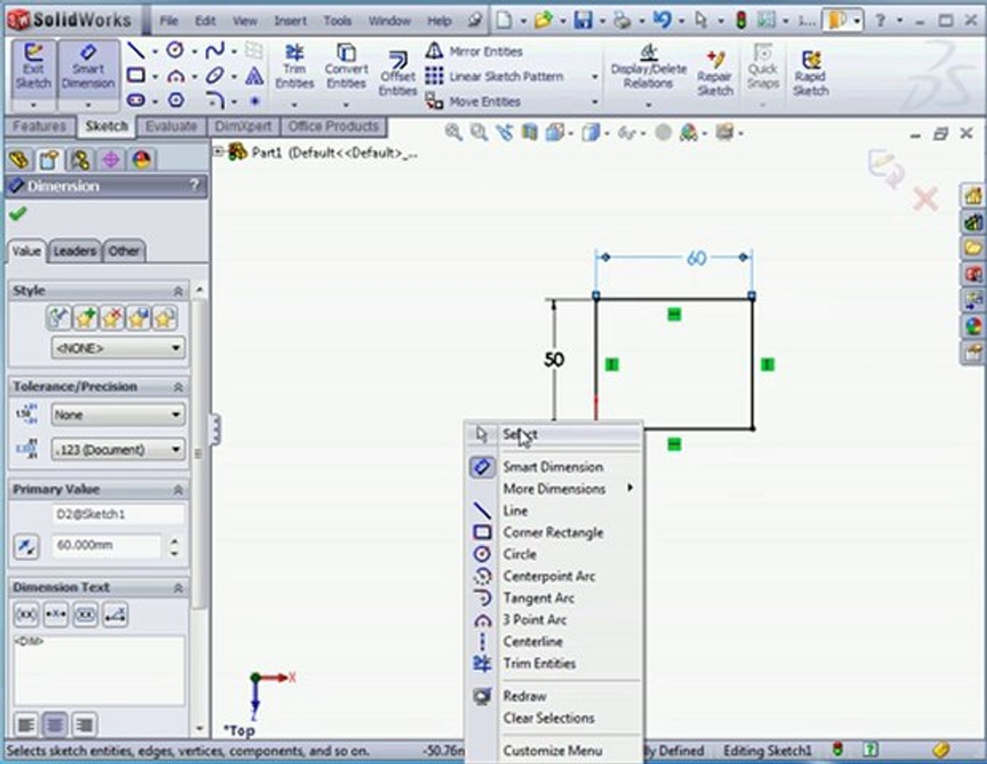 solidworks 2011 tutorials: Dimensions