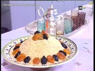 Couscous seffa avec fruits secs