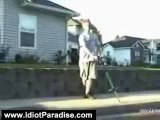 Idiot Videos: Pogo Stick Pops Guy In Face