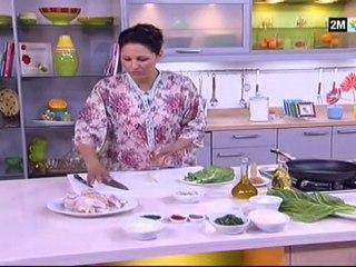 Légumes et fruits caramélisée et coquelet aux ris