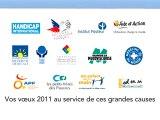 Carte de voeux 2011 pour les entreprises avec Vœux Solidaire