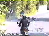 The Car Crash: Guy on a Motorcycle Crashes