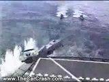 The Car Crash: Military Chopper Crashes into Landing Deck