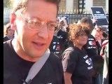 Stunt du 20/09/2010 à Paris: interview de B. Spire (AIDES)