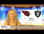 Cardinals vs Raiders NFL Online Sportsbook Betting Odds