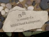 Pet Memorial Stone – In Memory of a Faithful Friend &