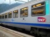 la bb 25254 en voyage avec 6 voitures ter rhone alpes