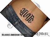 Religious Ambigram Tattoos