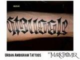 Urban Ambigram Tattoos