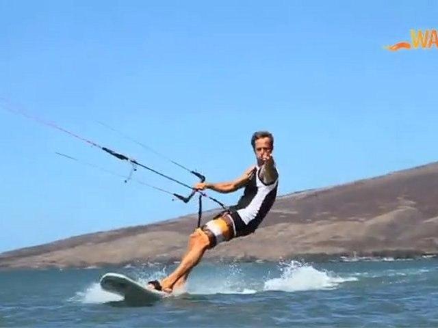 La race en Kitesurf avec Bruno Sroka à Maui, Hawaii