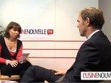 Christophe Decultot (Honda) au Mondial de l'Automobile 2010