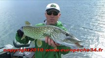 Pêche du brochet aux leurres lac du Salagou Europêche  34