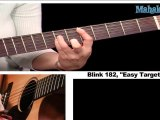 How to Play Easy Target by Blink 182 on Guitar