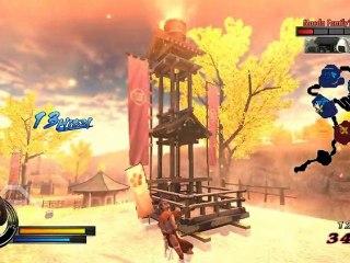 Gameplay Tsuruhi de Sengoku Basara Samurai Heroes