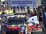 WRC dimanche 3 octobre 2010 Oberhoffen et podium