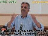ΔΗΜΗΤΡΗΣ ΑΝΑΓΝΩΣΤΑΚΗΣ ΕΚΛΟΓΕΣ 2010 Μέρος 2