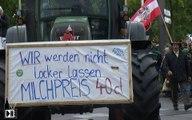 Manif des producteurs de lait à Strasbourg