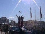 sébastien loeb qui monte sur le podium du rallye de France